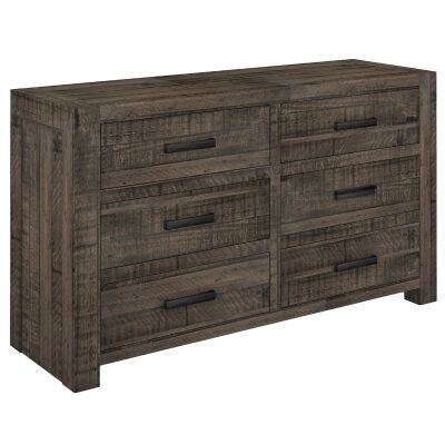 Alysha Recycled Pine Timber 6 Drawer Dresser