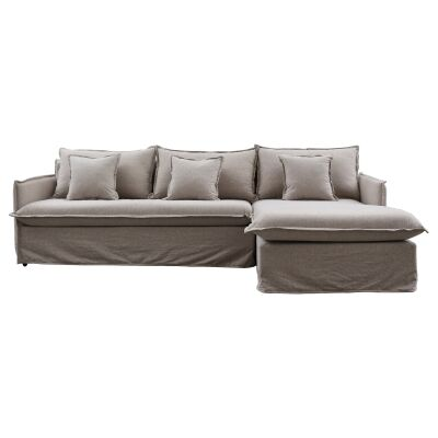 Bordeaux 2 Seater Fabric Corner Sofa with Right Hand Facing Chaise