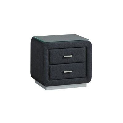 Linton Fabric Bedside Table