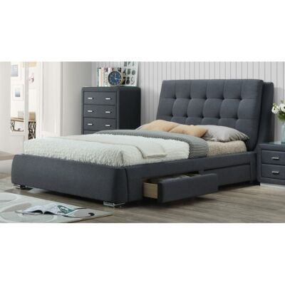 Orchard Fabric Bed with Side Drawers, King