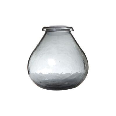 Pixie Glass Vase, Smoky Grey