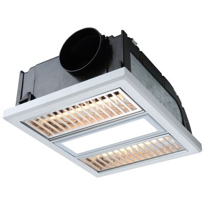 Ventair Regent 3-in-1 Bathroom Heater with Exhaust & LED Panel Light, White