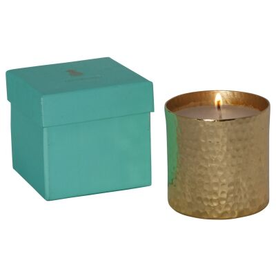 Ames Single Wick Candle, Linen Scense, Gold