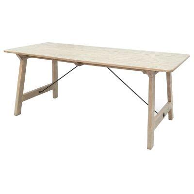 Valletta Reclaimed Timber Dining Table, 200cm