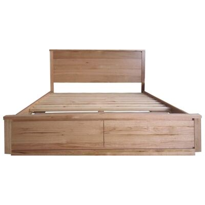 Padstow Messmate Timber Bed with End Storages, King