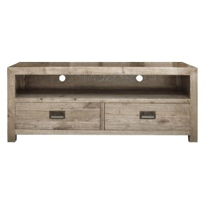 Sherwood Solid Oak Timber 2 Drawer 140cm TV Unit