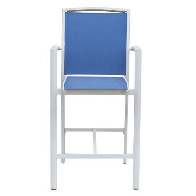 Costa Fixed Bar Chair, White / Blue