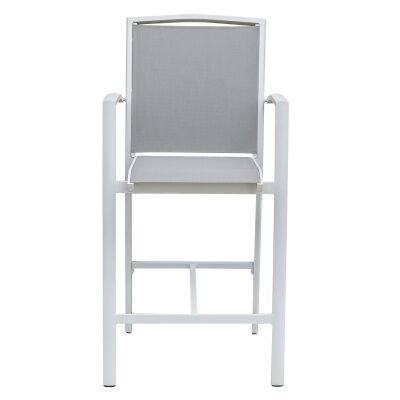 Costa Fixed Bar Chair, White / Grey