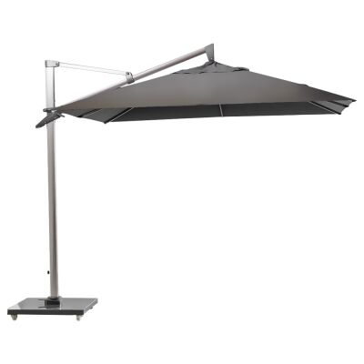 Mooney Outdoor Umbrella with Granite Base, Grey
