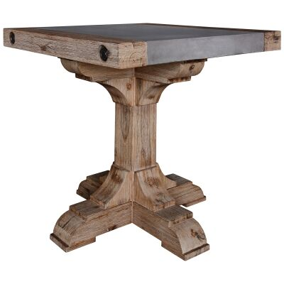 Caribbean Concrete Topped Acacia Timber Lamp Table