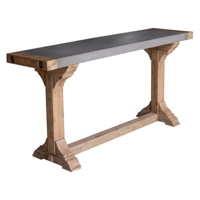 Caribbean Concrete Topped Acacia Timber Console Table, 160cm