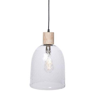 Byron Cut Glass Pendant Light, Bell