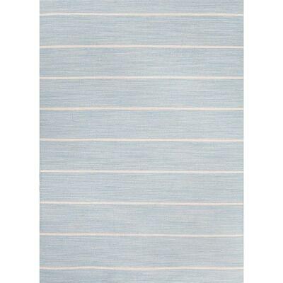 Cressy Handmade Flat Weave Wool Rug, 160x230cm, Porcelain Blue