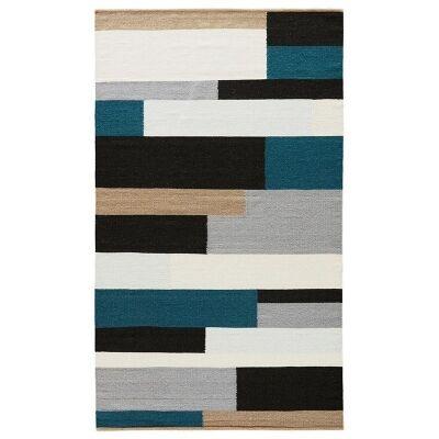 Corio Handmade Flat Weave Wool Rug, 160x230cm