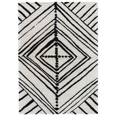 Saffron Hand Tufted Wool & Viscose Rug, 160x230cm