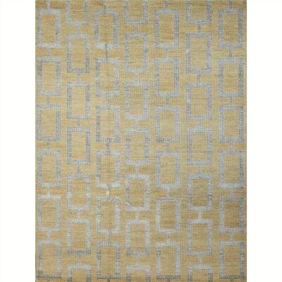 Maya 160x230cm Hand Knotted Wool and Viscose Rug - Tan