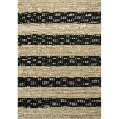 Ontario Jute & Wool Rug, 160x230cm, Black