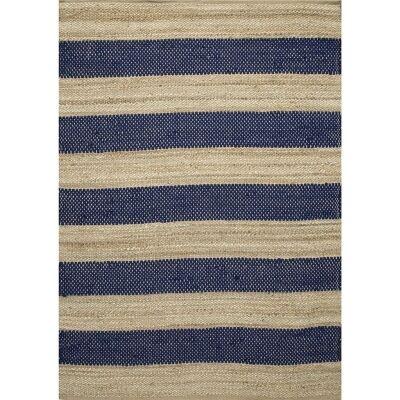 Ontario Jute & Wool Rug, 160x230cm, Navy