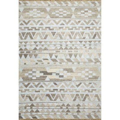 Heron Handmade Flat Weave Wool & Viscose Rug, 160x230cm