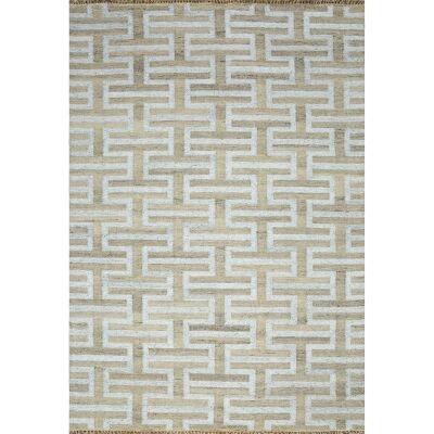 Larisa Handmade Flat Weave Wool & Viscose Rug, 160x230cm