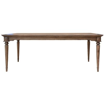 Aldreth Pine Timber Dining Table, 240cm