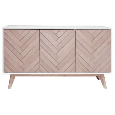 Wistow Wooden 3 Door 1 Drawer Buffet Table, 140cm