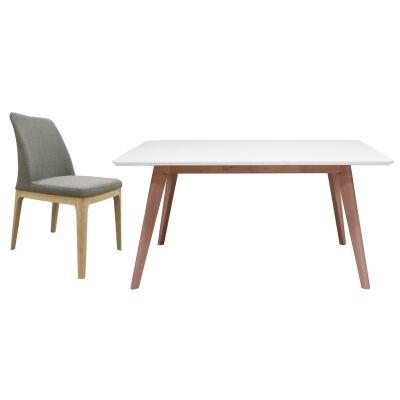 Wistow 5 Piece Dining Table Set, 100cm