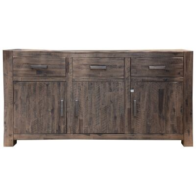 Sedgman Acacia Timber 3 Door 3 Drawer Buffet Table, 162cm