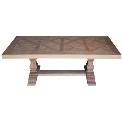 Cognac Pine Timber Coffee Table, 132cm