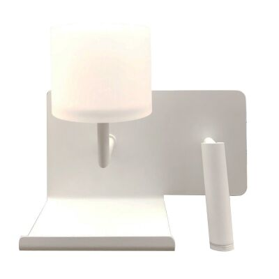 City Vigo LED Wall Light with Left Oriented Reading Light
