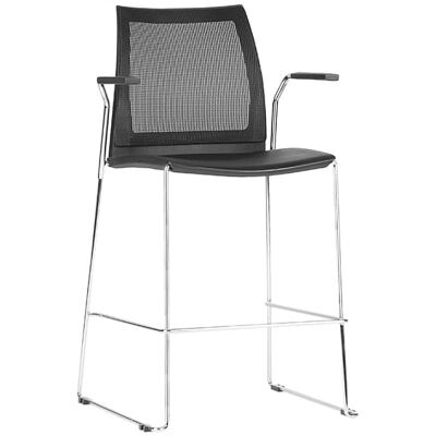 Vinn Counter Stool with Arm, Mesh Back