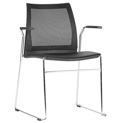 Vinn Stackable Client Chair with Arm, Mesh Back