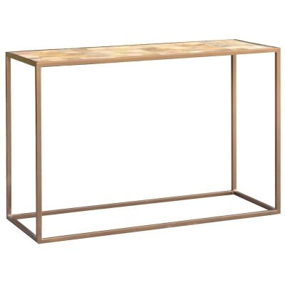 Ajax Mango Wood Timber and Metal 120cm Console Table