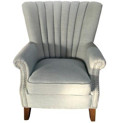 Elara Fabric Uphostered Armchair - Aqua