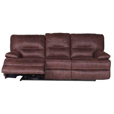 Poplar Fabric 3 Seater  Recliner Sofa