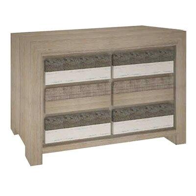 Lafite Acacia Timber 6 Drawer Dresser