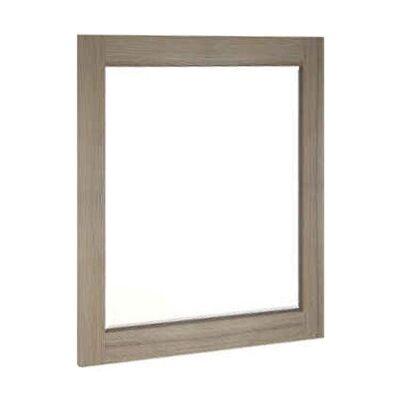 Lafite Acacia Timber Frame Square Wall Mirror, 105cm