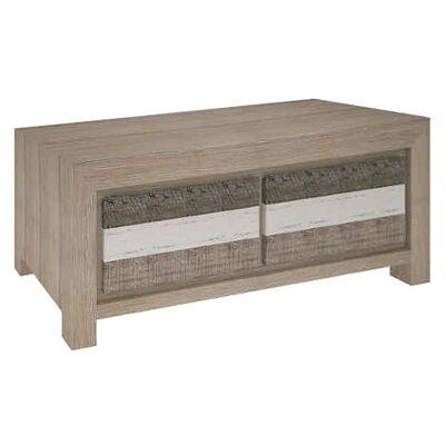 Lafite Acacia Timber 2 Drawer Coffee Table, 130cm