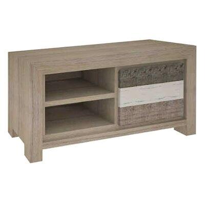 Lafite Acacia Timber Single Drawer TV Unit, 122cm