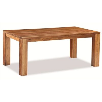 Bridgeton Solid Black Wood Timber 180cm Dining Table