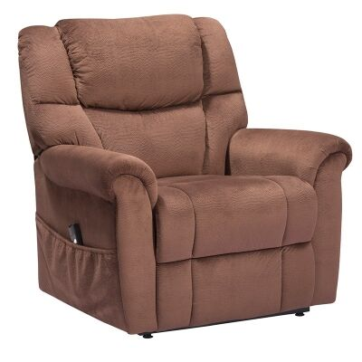 Molanosa Fabric Upholstered Lift Armchair, Brown