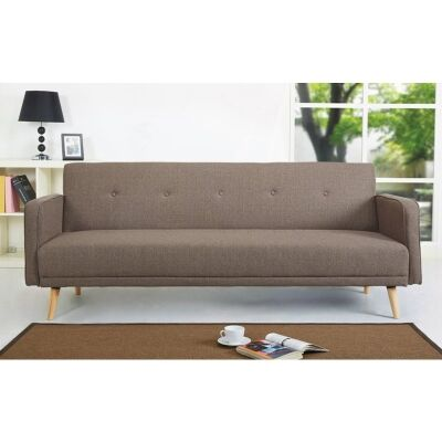 Egbert Fabric Click Clack Sofa Bed, Brown