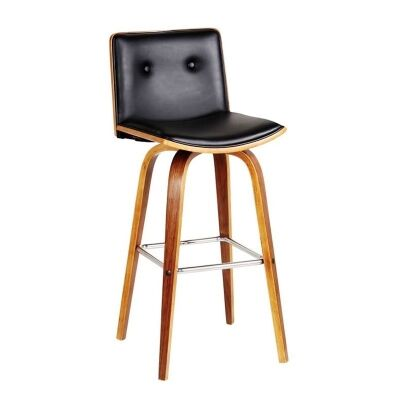 Diego PU Leather and Wood Bar Chairs