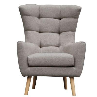 Molehill Fabric Armchair - Beige
