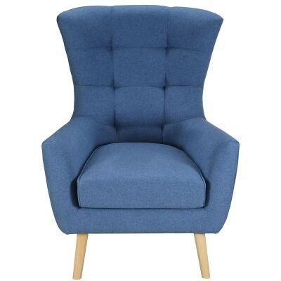 Molehill Fabric Armchair - Blue