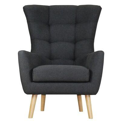 Molehill Fabric Armchair - Charcoal