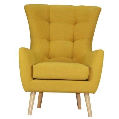 Molehill Fabric Armchair - Mustard