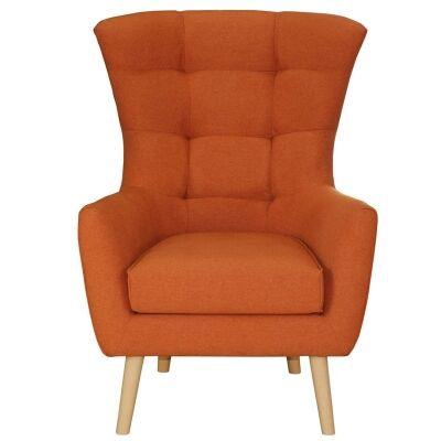 Molehill Fabric Armchair - Orange