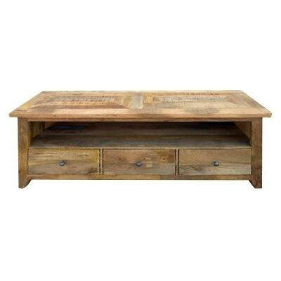 Hexagon Solid Timber Parquetry Top TV Unit