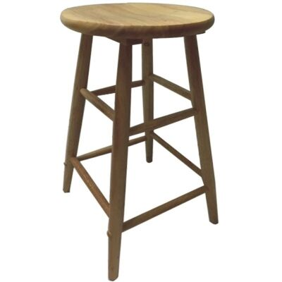 Fred Solid Timber Scoop Seat Counter Stool, Naturla
